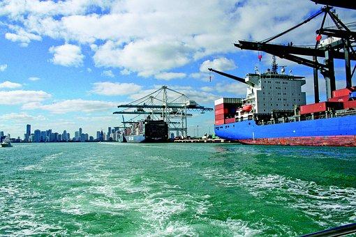 Miami Port, Harbor Miami, Miami Beach, Harbor