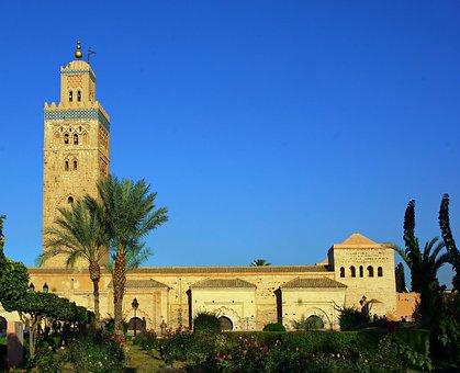 Morocco, Marrakech, Koutoubia, Mosque, Minaret
