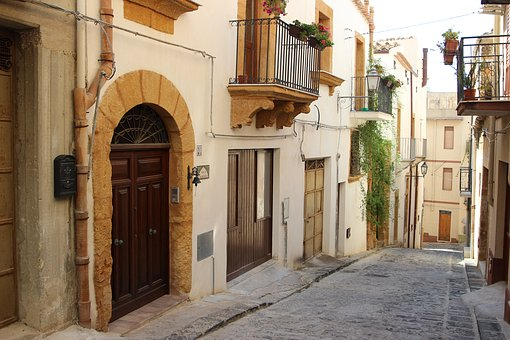 Sicily, Landscape, Italy, Summer, Holidays, City, Door