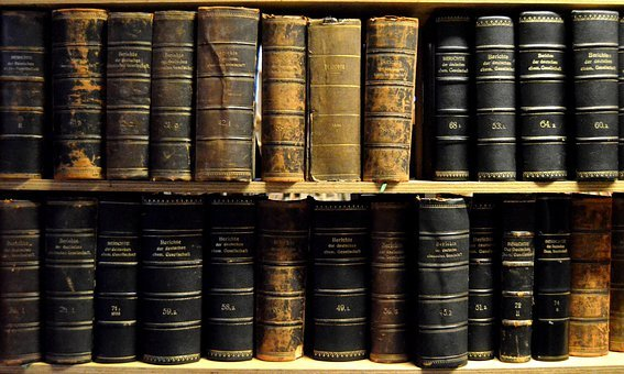 Books, Old, Vintage, Library, Shelves, Weathered