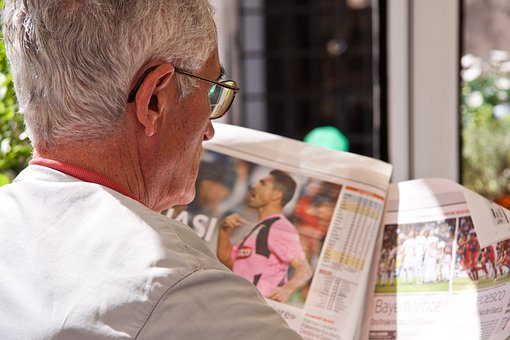 Newspaper, Read, Man, Pensioners, Paper, News, Messages