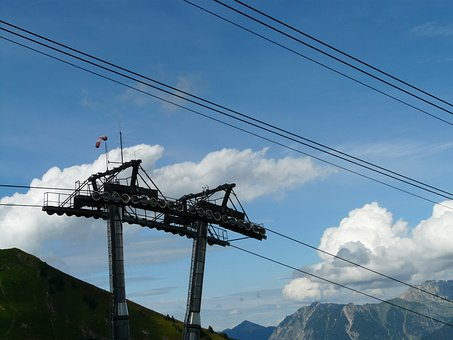 Chairlift, Mast, Cable Car, Lift, Gondola, Roll