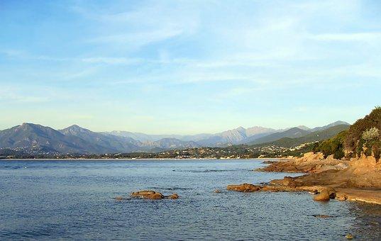 Corsican, Gulf, Ajaccio, Shore, Rocks, Mediterranée