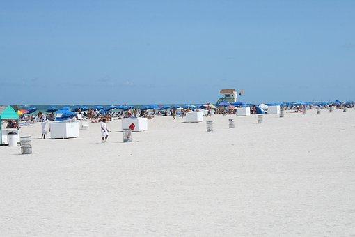 South, Beach, Beautiful Beach, Sand Beach, Miami