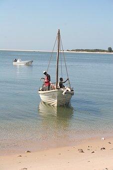 Bazaruto, Fishermen, Mozambique, Boat, Ship, Tradition