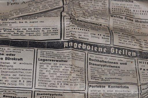 Daily Newspaper, Newspaper, Newsprint, Paper, Pressure