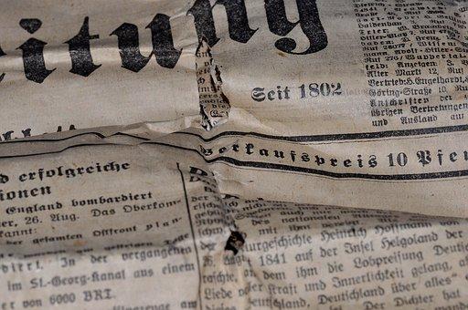 Newspaper, Daily Newspaper, Paper, Newsprint, Pressure