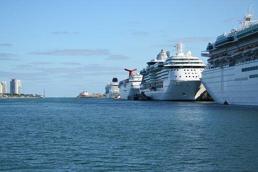 Ocean Drive, Miami Beach, Florida, Beach, Waterfront