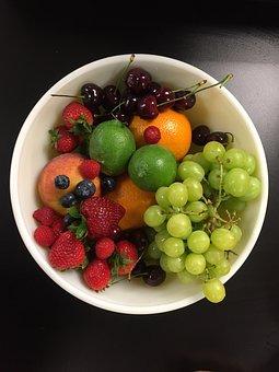 Grapes, Strawberry, Strawberries, Orange, Cherries