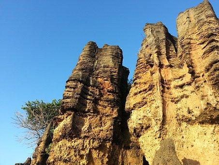 Beach, Mar, Brazil, Travel, Nature, Rocks, Landscape