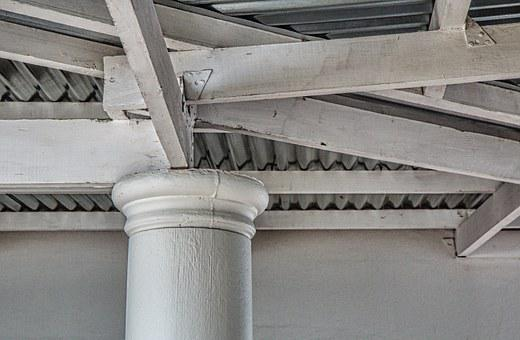 Beams, Rafters, Roof, Architecture, Construction