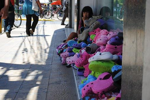 Market, Sale, Shoes, Poverty, Service, Business