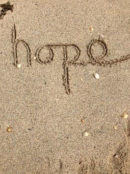 Hope, Writing, Text, Positive, Message, Sand, Happy