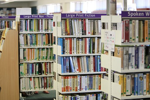 Library, Books, Shelves, Shelf, Arranged, Rows