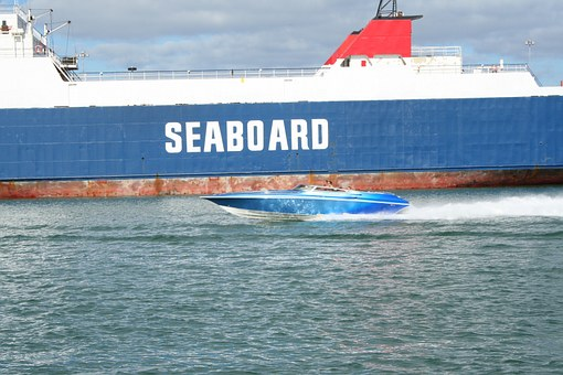 Speed Boat, Miami Port, Miami, Florida, Ocean, Boats