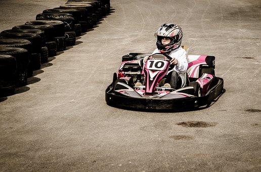 Gokart, Action, Umpteen, Motor, Speed, Sport, Track