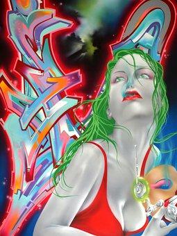 Street Art, Graffiti, Urban, Funky, Underground