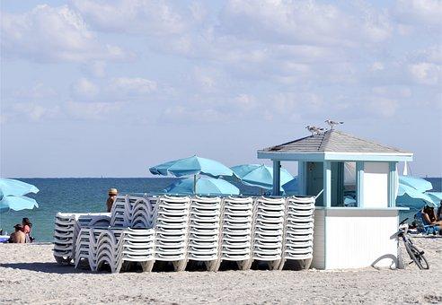 Beach, Miami, Vacations, Sea, Sand, Nature, Summer, Sun