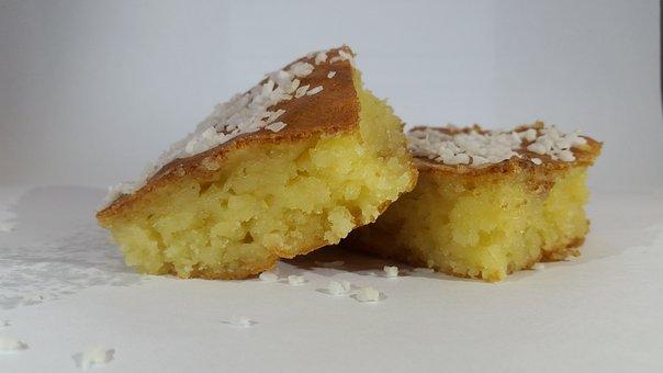 Cake, Cassava, Support, Food, Desert, Sweet, Tasty