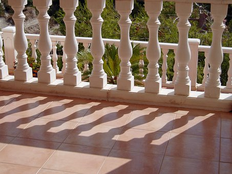 Balustrade, Spindles, Shadow, Pattern, Row, Terrace