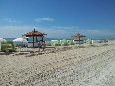 Miami, Tower, Sea, Beach, Ocean, Summer, South, Florida