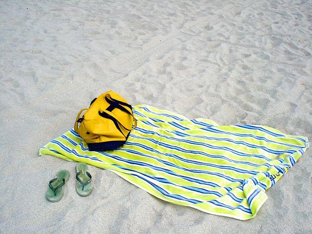 Flip Flops, Summer, Beach, Bag, Yellow, Relaxing