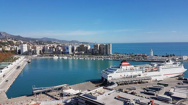 Malaga, Andalusia, Spain, Port, Cruise, Cruise Ship