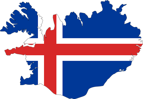 Iceland, Map, Flag, Europe, Country