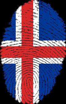 Iceland, Flag, Fingerprint, Country, Pride, Identity