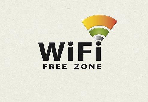 Free Wifi, Wifi, Wifizone, Logo, Logo Design, Available