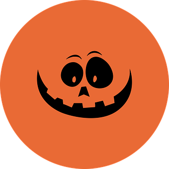 Halloween, Pumpkin, Bottle Cap, 1-inch, Button