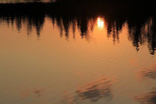 Strba Tarn, In The Morning, Sunrise, Water, Lake, Pleso