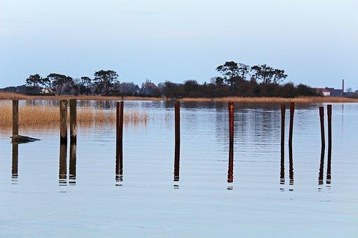 Gristow, Bodden, Slipway, Water, Boat Trip, Landscape