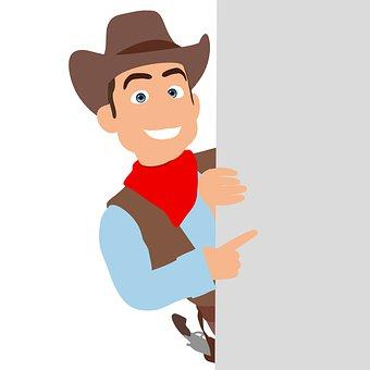 Cowboy, Cow Boy, 3d, Farmer, Rancher, Hat, Man, Cartoon