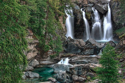 Waterfalls, National Park, Valle D'aosta, Italy