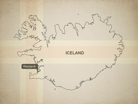 Outline, Map, Iceland, Geography, Country, Maps, Europe