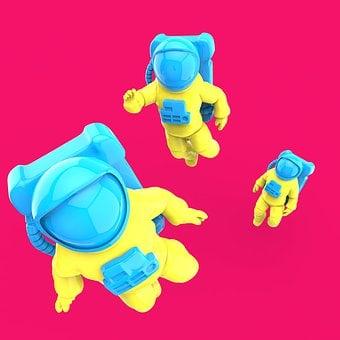 Astronaut, Design, 3d, Space, Science, Universe