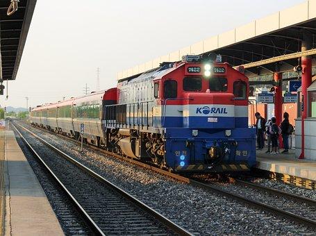 Southkorea, Train, Rail, Railway, Rails
