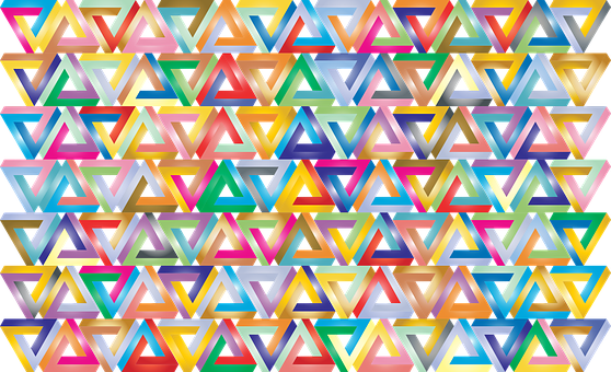 Penrose Triangle, Abstract, Geometric