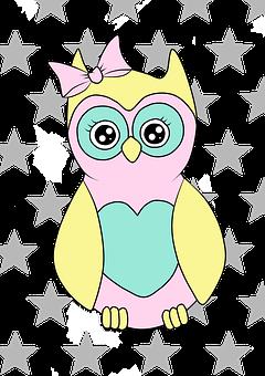 Sowa, Child, Owls, Animals, Pet, Animated