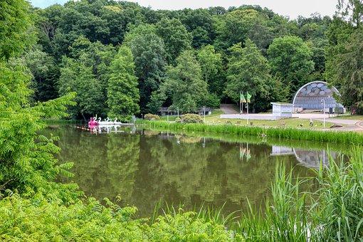 Dfg, Saarland, Park, English-french-garden, Garden