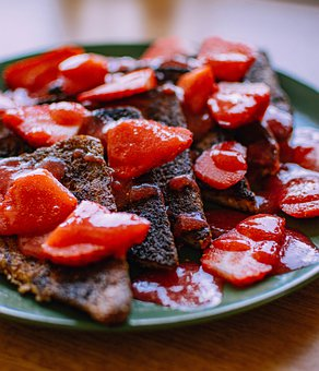 French Toast, Strawberries, Fruits, Food, Eat, Fruit