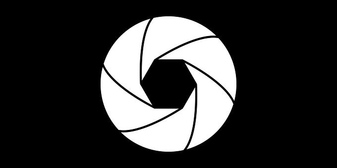 Camera, Diaphragm, Eye, Film, Icon, Lens