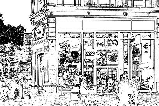 Leicester Square, London, Uk, England, Lego, Shop