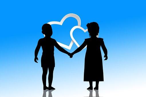 Children, Heart, Forward, Skin Color, Harmony, Line