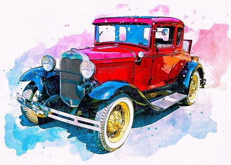 Vintage Car, Antique, Old, Retro
