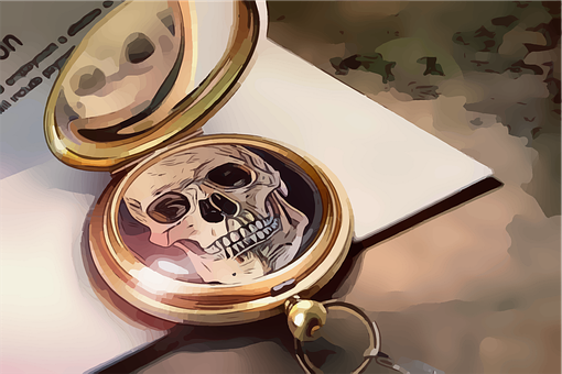 Skull, Locket, Photo, Old-fashioned, Vintage, Retro