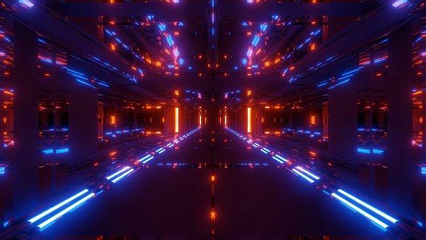 Futuristic, Tunnel, Scifi, Sci-fi, Hangar, Temple