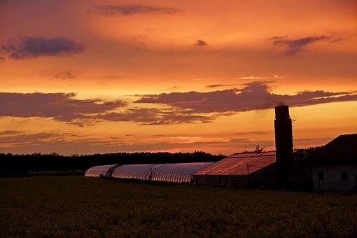 West, Sky, Landscape, Twilight
