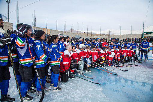 Ice Hockey, Winter, Competition, Snow